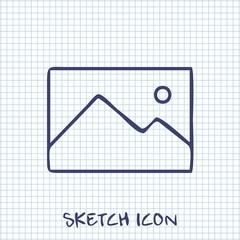 Vector sketch icon of image photo