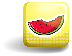 Watermelon on square badge