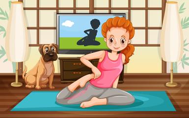 Girl and yoga