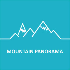 Blue mountain panorama