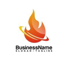 Fire vector logo icon