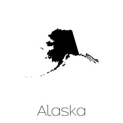 Illustrated Shape of the State of Alaska