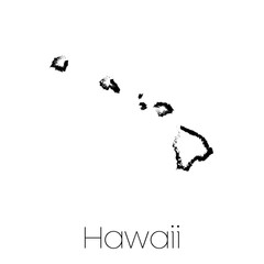 Scribbled shape of the State of Hawaii