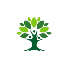 green tree plant ecology botany logo