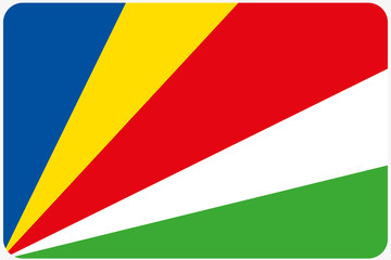 Flag Illustration with rounded corners of the country of Seychel