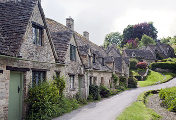 Row of Ancient Cottages in the Cotswolds