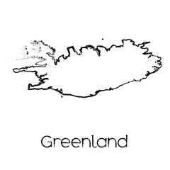 Scribbled Shape of the Country of Greenland