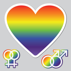 Illustrations of Gay and Lesbian Pictograms