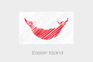 Scribbled Flag Illustration of the country of Easter Island