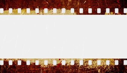 Grunge film strip frame