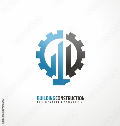 """""""Building construction and engineering logo design concept ..."""