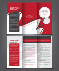 Magazine, flyer, brochure, cover layout design print template, blue vector Illustration