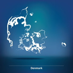 Doodle Map of Denmark