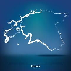 Doodle Map of Estonia