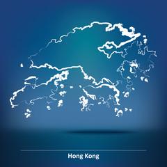 Doodle Map of Hong Kong