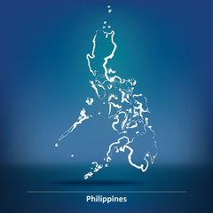 Doodle Map of Philippines