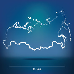 Doodle Map of Russia