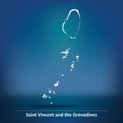 Doodle Map of Saint Vincent and Grenadines