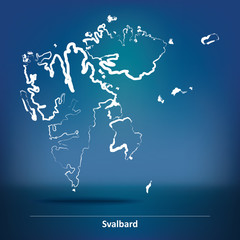 Doodle Map of Svalbard