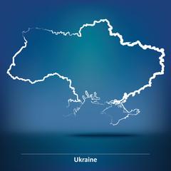 Doodle Map of Ukraine
