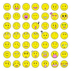表情 顔 セット バリエーション