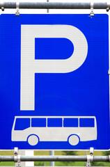 Bus parking sign
