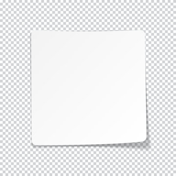 White paper sheet with shadow.
