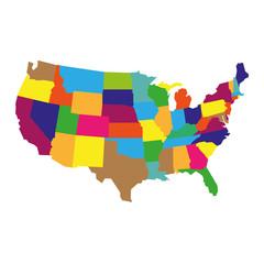 PrintDetailed USA Map