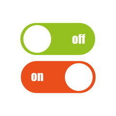 Toggle switch vector icon