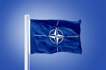 The flag of the North Atlantic Treaty Organization NATO