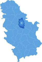 Map of Serbia, Subdivision Podunavlje District