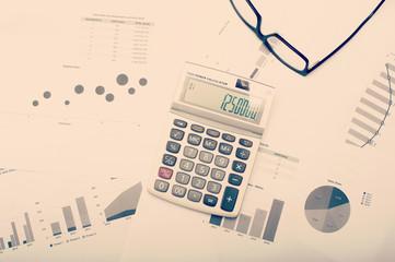 Charts and statistics on desktop