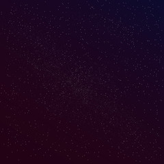 Milky way on star night background, vector cosmic sky