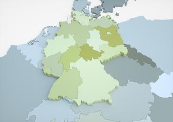 Deutschland und angrenzende Länder / 57 Megapixel
