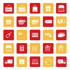 Online shopping icon. Shopping icon. E-commerce icon. silhouette