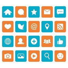 Social network icon. Social media icons. Vector. Illustration