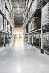 Wall Mural - Distribution warehouse with high shelves
