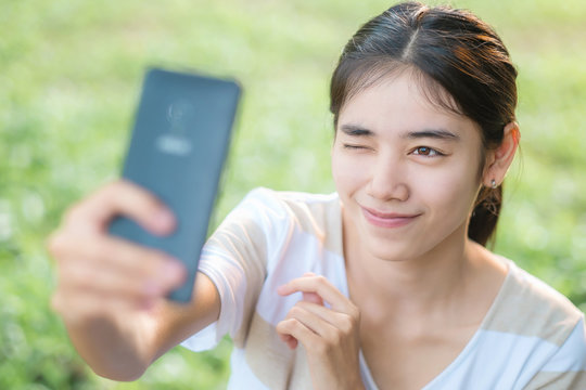 Selfie by smartphone