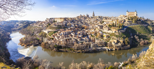 panoramic view of beautiful medieval Toledo, Spain. UNESCO site