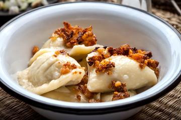 Homemade dumplings.