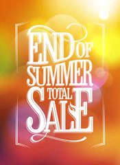 End of summer total sale text design.
