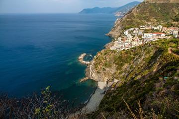 Ausblick auf Riomaggiore, Cinque Terre
