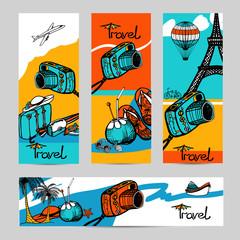 Travel Photo Banner Set