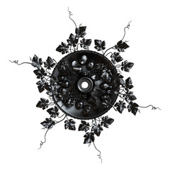 3d set of an ancient black ornament on a white background
