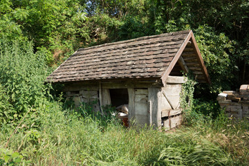 Old garden shed in Hungary