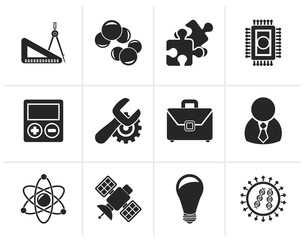 Black Science and Research Icons - Vector Icon set