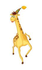 Cheerful giraffe