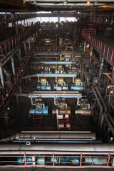 Coal mine, industrial zone inside