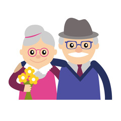 Vector illustration. Happy grandparents day.