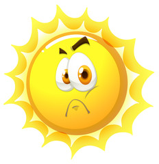 Sun with sad face